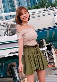 chuu-韩国抽皱高档时尚韩国代购短裤女装2017年07月31日夏季款