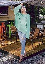 chuu-韩国时尚复古破洞韩国代购牛仔裤女装2017年08月07日08月款