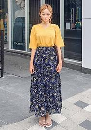 chuu-韩国时尚优雅魅力韩国代购长裙女装2017年08月07日08月款