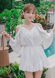 chuu-韩国时尚魅力宽松韩国女装代购网站连体裤女装2017年08月07日08月款