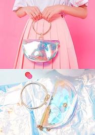 chuu-韩国时尚可爱凉爽韩国代购正品手提包女装2017年08月09日08月款