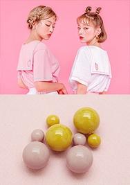 chuu-韩国时尚可爱圆形韩国代购耳环女装2017年08月09日08月款