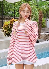 chuu-韩国时尚舒适条纹韩国代购毛衣针织衫女装2017年08月09日08月款