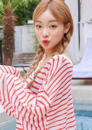 chuu-韩国时尚可爱心形韩国代购耳环女装2017年08月09日08月款