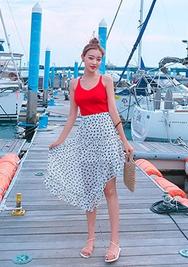 chuu-韩国时尚宽松夏季韩国代购中裙女装2017年08月09日08月款