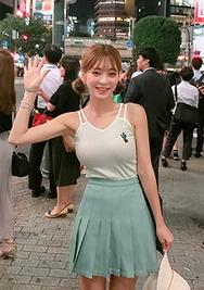 chuu-韩国时尚性感魅力韩国代购吊带女装2017年08月09日08月款