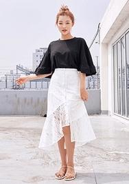 chuu-韩国时尚魅力蕾丝韩国代购长裙女装2017年08月10日08月款