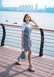 chuu-韩国时尚魅力韩国代购背心韩国代购正品连衣裙女装2017年08月10日08月款