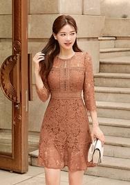 chuu-韩国时尚浪漫高贵韩国代购正品连衣裙女装2017年08月10日08月款
