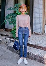 chuu-韩国时尚修身魅力韩国代购牛仔裤女装2017年08月14日08月款