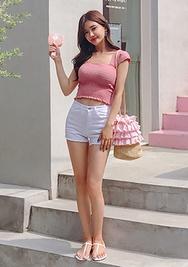 chuu-韩国时尚可爱魅力韩国代购短裤女装2017年08月14日08月款