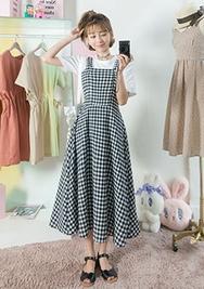 chuu-韩国时尚格纹可爱韩国代购正品连衣裙女装2017年08月14日08月款