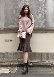 1区2017秋季新款|韩国发货|chuu品牌韩国气质个性魅力中裙(2017.9月)