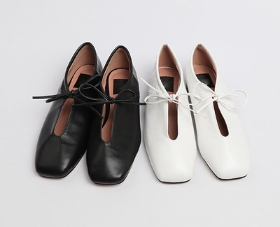 chuu-时尚气质方头平底鞋