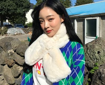 chuu-简单魅力纯色围巾