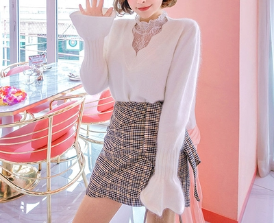 2018新款韩国服装chuu品牌简单魅力时尚针织衫(2018.1月)