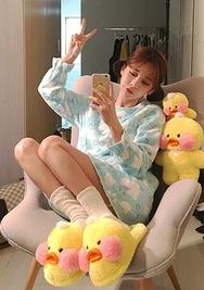 2018新款韩国服装chuu品牌韩版清新配色睡衣(2018.1月)