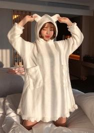 2018新款韩国服装chuu品牌清新纯色舒适睡衣(2018.1月)