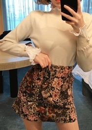 2018新款韩国服装chuu品牌复古碎花个性短裙(2018.1月)