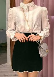 2018新款韩国服装chuu品牌优雅配色简约短裙(2018.1月)