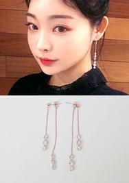 2018新款韩国服装chuu品牌优雅简约配色耳环(2018.1月)