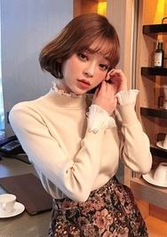 2018新款韩国服装chuu品牌优雅魅力配色针织衫(2018.1月)