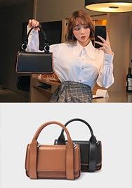 2018新款韩国服装chuu品牌复古配色简约手提包(2018.1月)