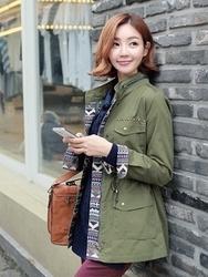 1区韩国代购正品验证clicknfunny-CFCT00754916-流行魅力韩版纯色大衣