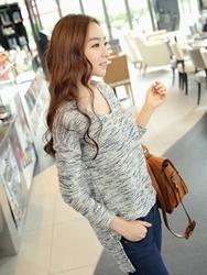 1区韩国代购正品验证clicknfunny-CFKN00755833-时尚魅力韩版V领针织衫