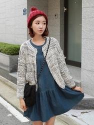 1区韩国代购正品验证clicknfunny-CFCA00781702-秋装新款舒适针织开襟衫