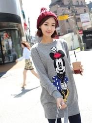 1区韩国代购正品验证clicknfunny-CFKN00782582-可爱休闲米老鼠长款针织衫