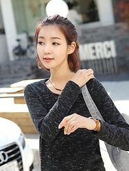1区韩国代购正品验证clicknfunny-CFTS00782544-时尚百搭舒适长袖T恤