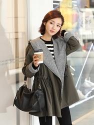 1区韩国代购正品验证clicknfunny-CFCT00782558-韩国休闲舒适魅力大衣