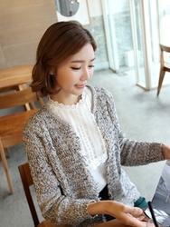 1区韩国代购正品验证clicknfunny-CFCA00790454-韩国流行舒适针织开襟衫