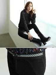 1区韩国代购正品验证clicknfunny-CFLP00790584-修身显瘦舒适小脚长裤