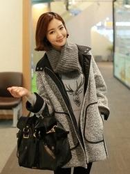 1区韩国代购正品验证clicknfunny-CFCT00790505-秋装新款舒适毛呢大衣