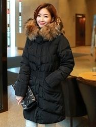 1区韩国代购正品验证clicknfunny-CFPD00790565-秋装新款拉链长款棉服