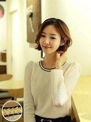 1区韩国代购正品验证clicknfunny-CFKN00790507-甜美舒适圆领混色针织衫