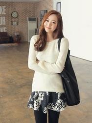 1区韩国代购正品验证clicknfunny-CFKN00849554-甜美舒适圆领针织衫