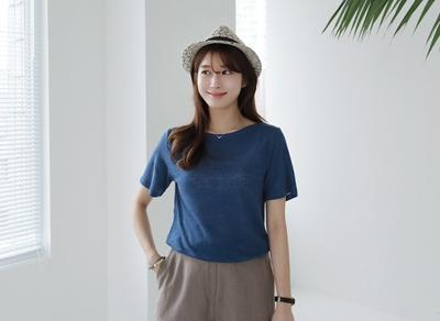 1区韩国本土服装代购(韩国圆通直发)clicknfunny-休闲舒适纯色短袖T恤(2018-04-17上架)