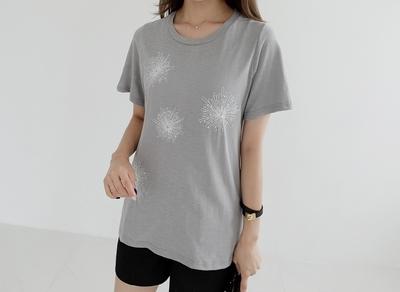 1区韩国本土服装代购(韩国圆通直发)clicknfunny-休闲个性花纹T恤(2018-07-11上架)