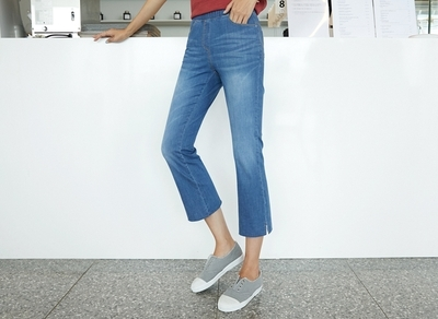 1区韩国本土服装代购(韩国圆通直发)clicknfunny-休闲舒适八分牛仔裤(2018-07-11上架)