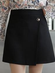 2018新款韩国服装clicknfunny品牌日常魅力纯色短裙(2018.1月)