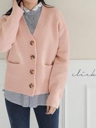 2018新款韩国服装clicknfunny品牌时尚流行针织开襟衫(2018.1月)