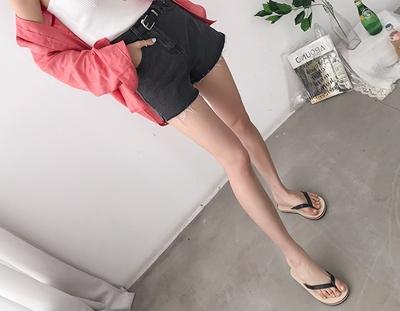conTAGyou-时尚A型配腰带短裤