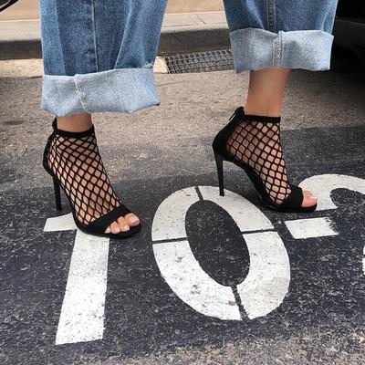 1区韩国本土服装代购(韩国圆通直发)Crazy girls-坡跟时尚新款高跟鞋(2018-04-20上架)