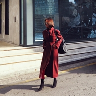 2018新款韩国服装Crazy girls品牌系带时尚魅力流行大衣(2018.1月)