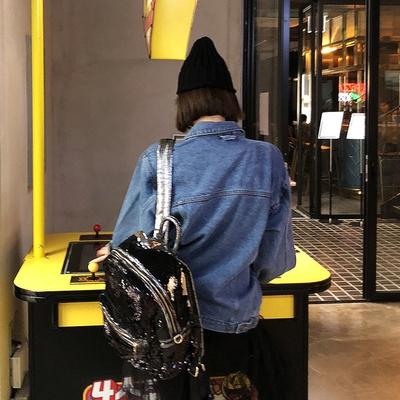 1区韩国本土服装代购(韩国圆通直发)Crazy girls-时尚亮片高档背包(2018-04-14上架)