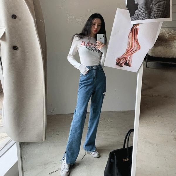 1区韩国本土服装代购(韩国圆通直发)Crazy girls-牛仔裤(2019-01-16上架)