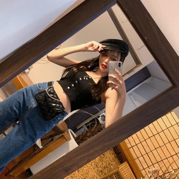 1区韩国本土服装代购(韩国圆通直发)Crazy girls-吊带(2019-02-20上架)